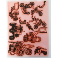 "Heavy Vehicles and Motocross / Large Sheet 8""x10"""