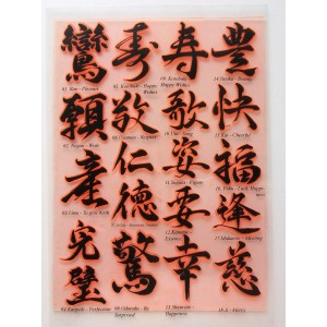 "Shodo Japanese Calligraphy 2 / Large Sheet 8""x10"""