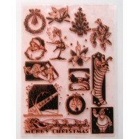 "Vintage Christmas Pack 4 / Large Sheet 8""x10"""