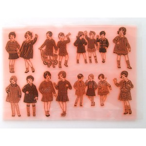 "Vintage Fashion Kids / Large Sheet 8""x10"""