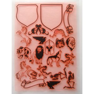 "Build Your Own Coat Of Arms / Large Sheet 8""x10"""