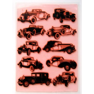 "Vintage Retro Car Thirties / Large Sheet 8""x10"""