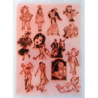 "Vintage Girls and Kids / Large Sheet 8""x10"""