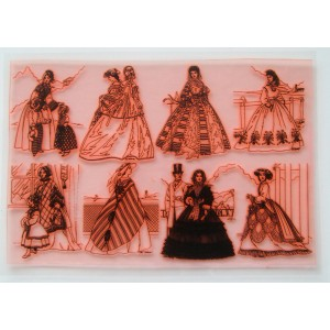 "Vintage Fashion XIX Century / Large Sheet 8""x10"""