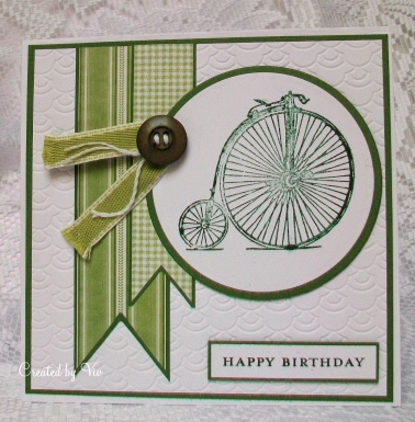 Green Penny Farthing