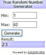 Winner Random Org