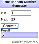 Random Org VSC Winner